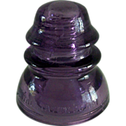 SALE Vintage Purple Glass Insulator Whitall Tatum Co. No. 1