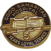SALE 50% OFF    Nursing Employee Service Award Pin Good Samaritan Hospital 5 Year