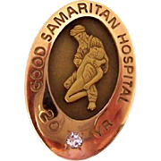 SALE 50% OFF    Nursing Employee Service Award Pin Good Samaritan Hospital 20 Year Diamond