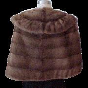 Mink Stole - Medium Brown - Size Medium to Large