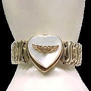 Co-Star Sweetheart Expansion Bracelet - Military - Sterling Base