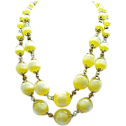 Eye Catching Vendome Necklace,  Earrings - Luscious Yellow
