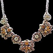 Elegant Hollycraft Rhinestone Necklace - 1966
