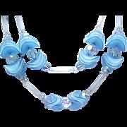 Fanciful Hobe' Necklace & Earrings - Blue