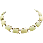 Coro Thermoset Necklace,  Earrings - Key Lime Color
