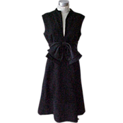 SALE 03 - Couture Glamorous Black Evening Dress Elinor Simmons for Malcolm Starr
