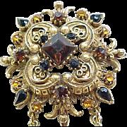 Gorgeous Florenza Renaissance Style Pin/Pendant Necklace