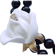 KJL MIdnight Rose Necklace & Earrings