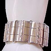 Huge Napier Sterling Bracelet - Gold Wash
