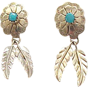 03 - Sterling & Turquoise Earrings - Pierced - Native American