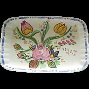 03 - Blue Ridge Pottery Demi Tray - Nove Rose
