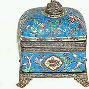 Emaux De Louviere Pottery Box or Casket