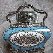 Antique Enamel Tea Caddy with Lid