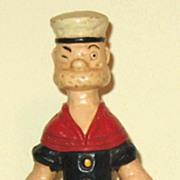 Vintage Cast Iron Popeye Bank