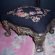 Victorian Cast Iron Footstool