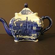 Blue and White Victoria Ware Ironstone Teapot