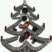 Czech Rhinestone Christmas Tree Tabletop Decoration
