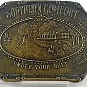 Bronze Southern Comfort Belt Buckle Signed Tiffany