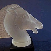 Art Deco Style Frosted Crystal Car Mascot Signed R. Lalique