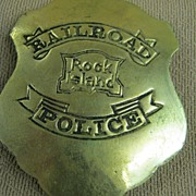 "Railroad Police Badge ""Rock Island"""