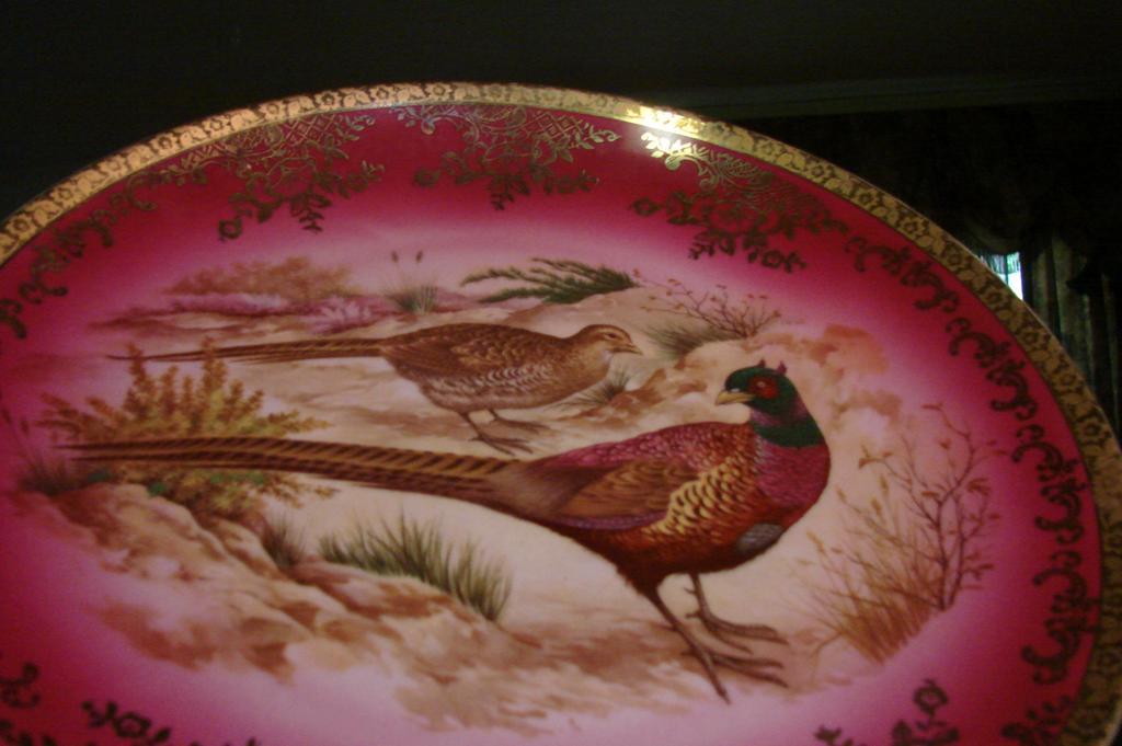 Fake Bavaria Germany Pheasant Plate