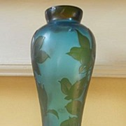Vintage Galle Cameo Glass Vase