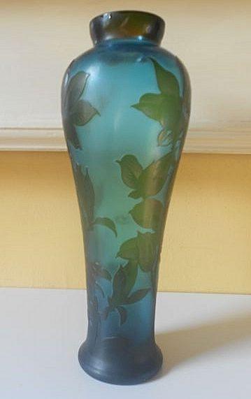Vintage Galle Cameo Glass Vase
