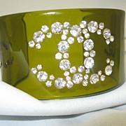 Coco Chanel Logo Lucite Bracelet