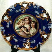 Royal Vienna RS Prussia Portrait Plate
