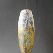 Six Color Cameo Glass Vase Marked Galle