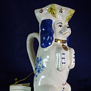 Royale Stratford Dog Pitcher Staffordshire England