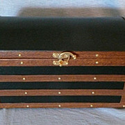 Domed Top Wooden Doll Trunk