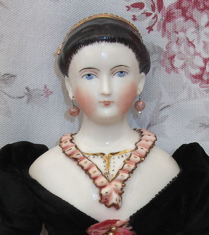17  Inch China Head Doll with Pierced Ears