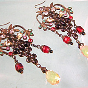 Czecho SBK Chandelier Earrings