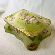 Hand Painted Vanity Porcelain Box Nippon