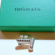 Silver Cuff Links withTiffany Box