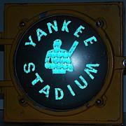 Incredibly Rare 1950s Yankee Stadium Subway Traffic Signal LFE Corporation Automatic Signal Di