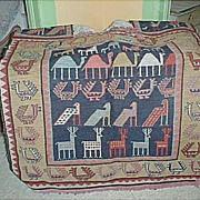 Woven Wool Horse Blanket, Country? Tribe? Age?