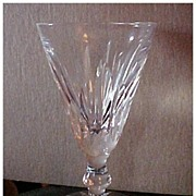 TWO - signed Waterford crystal stemmed glasses