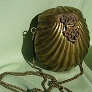 Brass Purse with Passion Purple Lining