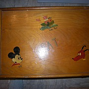 Folk Art Child's Play Desk with Mickey Mouse