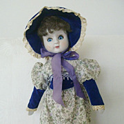 Unmarked Cute Doll With Old Fashioned Attire