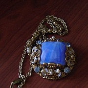 Vintage Ornate Filigree and Gemstone Pendant