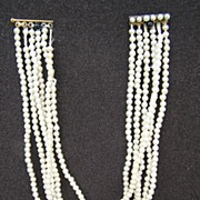 Late 1800's Multi-STrand Pearl necklace