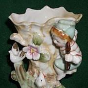 Boy & Dog Vase