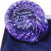 Purple glass something