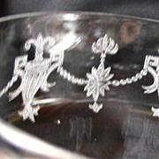 Elegant Crystal Stem Glass with etched Design