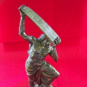 Bronze Statue: Signed: Moses and the Ten Commandments