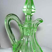 Small Cruet, Green Depression Glass