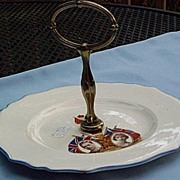 George VI and Elizabeth Coronation  Serving Plate, 1937